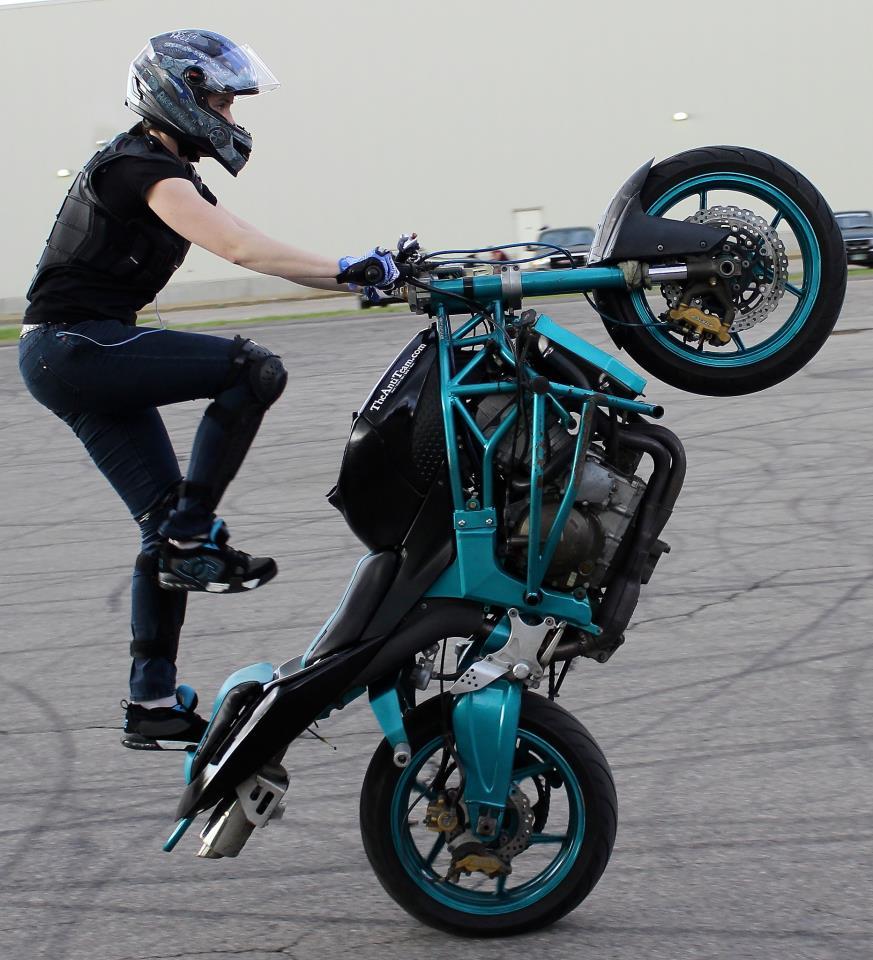 Robyn Stunts Wheelie